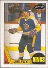 1987 O-PEE-CHEE Jim Fox #75 Hockey Card
