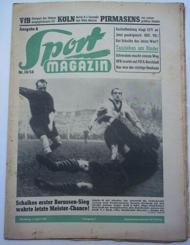 Sammeln & Seltenes Sport TOP Orig.Zeitung   Sport Magazin  vom 05.04.1954  Spiele/Statistiken/Bilder  !