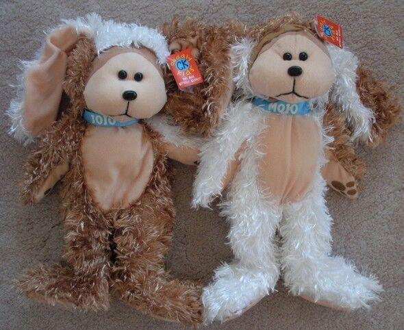 SKANSEN CUDDLY KID  JOJO & MOJO THE JAFFA PUPPIES BEARS MINT WITH MINT TAGS