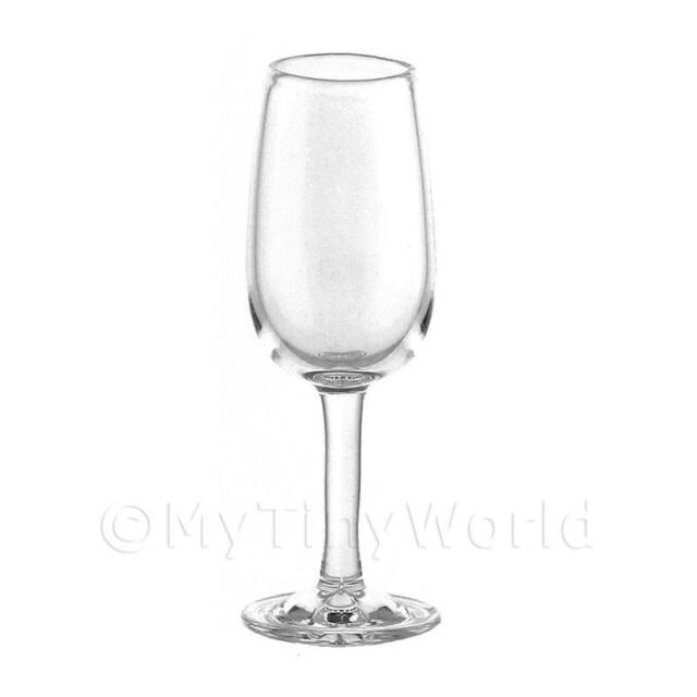 Dolls House Miniature Handmade Clear Wine Glass