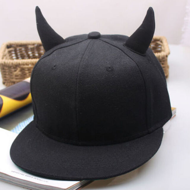 Men's Women's Snapback adjustable Baseball Cap Hip Hop Hat Devil Horns Hat  .