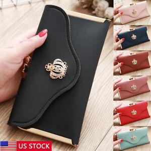 Women-Lady-Clutch-Leather-Wallet-Long-Card-Holder-Phone-Bag-Case-Purse-Handbag