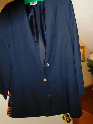 2019 Ultimo Disegno Navy Blue Jacques Vert Giacca Taglia 12-