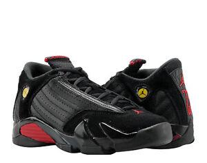 d44d3a3bd82 Nike Air Jordan 14 Retro Black/Red-Black Big Kids Basketball Shoes ...