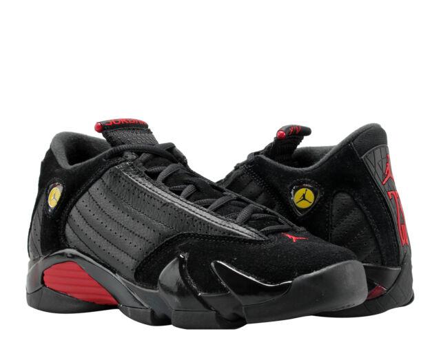 99b0e7e6cf7 Nike Air Jordan 14 Retro Black/Red-Black Big Kids Basketball Shoes 487524-
