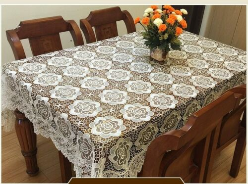 Luxury Vintage Embroider Table Cloth Lace Decorative Tablecloth Dining Table