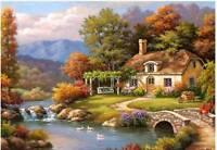 Anatolian Jigsaw Puzzle Cottage Stream Sung Kim 1000 Pcs Nature