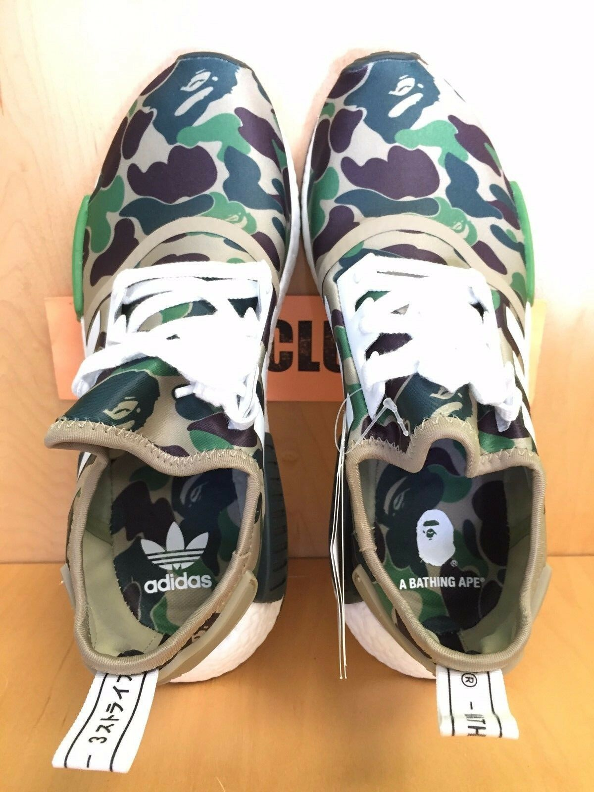 0c827b3a92185 adidas NMD R1 Bape Green Camo Army Bathing Ape Nomad Runner Ba7326 Now 7.5  for sale online