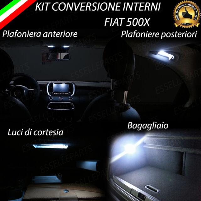 KIT FULL LED INTERNI FIAT 500X KIT COMPLETO CANBUS NO ERROR 6000K