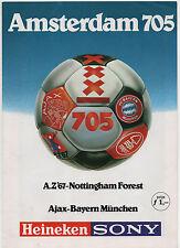 Orig.PRG  Int.Turnier 1980 AMSTERDAM/BAYERN MÜNCHEN/NOTTINGHAM FOREST/AZ ALKMAAR