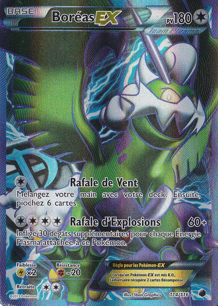Bor é als ex - volle art-n & b  eiszeit - plasma - 114   116 - carte pokemon - fran ç aise