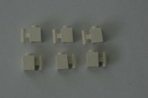 6 Lego Eisenbahn TRAIN 1x1 Stein Steine mit Griff WEISS