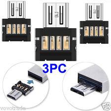 3PCS !!  Mini USB 2.0 Micro USB OTG Converter Adapter Connector Cellphone TO US