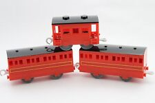 Thomas & Friends RED EXPRESS PASSENGER COACHES (T9056) Trackmaster 2009 MATTEL