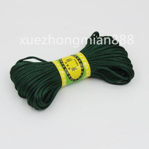 3 mm Chinois Noeud en satin de nylon tressé cordon Macrame Perles rattail fil cordons