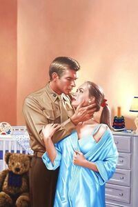 "Harlequin romance illustration ""The Non-Commission Baby ..."