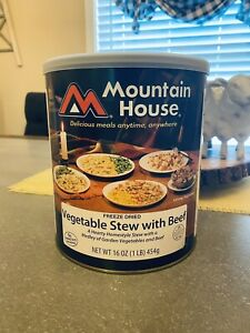 Mountain House Freeze Dried Vegetable Stew With Beef 1 lb can Expires 2035