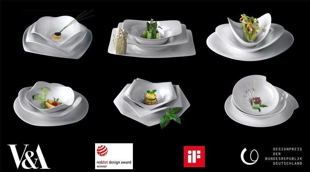 Rosenthal A La Carte Serv vaisselle 24 pièces pour 6 personnes 6 formes