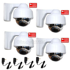 4x Dome Security Camera Outdoor Day Night Varifocal Zoom with Sony Effio CCD c4n