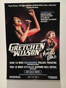 GRETCHEN-WILSON-2014-Australian-Tour-Poster-A2-Melbourne-Brisbane-CMC-ROCKS-NEW
