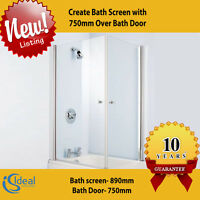 Create Bath Screen With 750mm Over Bath Door: Ideal Standard