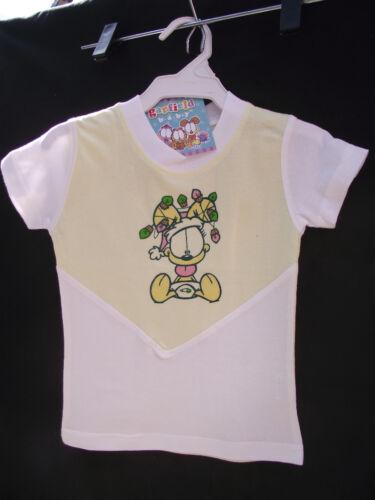 BNWT Baby Girls Sz 0 Super Soft 100/% Cotton Garfield Baby Print Lemon T Shirt