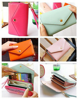 Candy Womens Ladies Crown Pouch Purse Faux Leather Wallet Fit Mobile 9300 Iphone