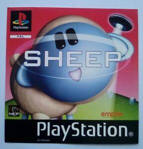 * Incrustation Avant Seulement * Moutons Incrustation Avant Ps1 Psone Playstation One 1-afficher Le Titre D'origine Fpt9qep1-07180020-363766618