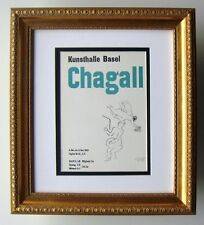 Super Marc CHAGALL Antique SIGNED Kunsthalle Basel Exhibition Poster FRAMED COA