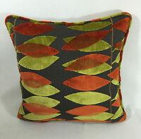 Sanderson Miro Lime/orange Cushion Cover 18x18 Stunning Vibrant Fabric