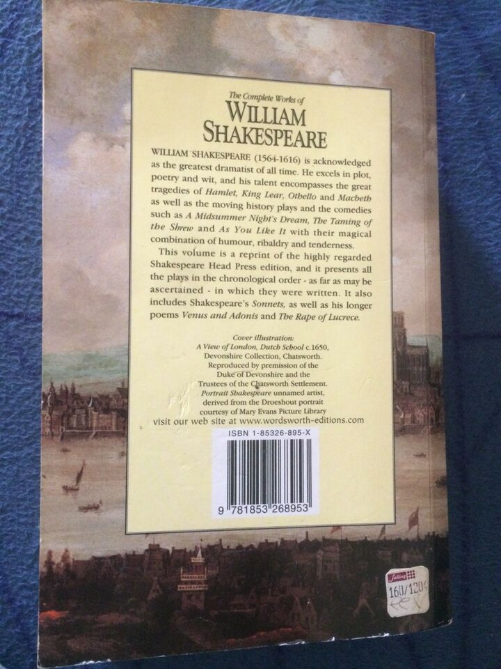 The complete works, William Shakespeare, genre: drama