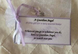 Keepsake Guardian Angel Gift For Special Sister Birthday Gift For