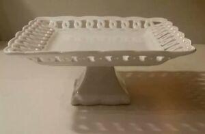 Gracie-Fine-Porcelain-Heirloom-Collection-Square-Dessert-Pedestal-7-3-4-034-A-Cond