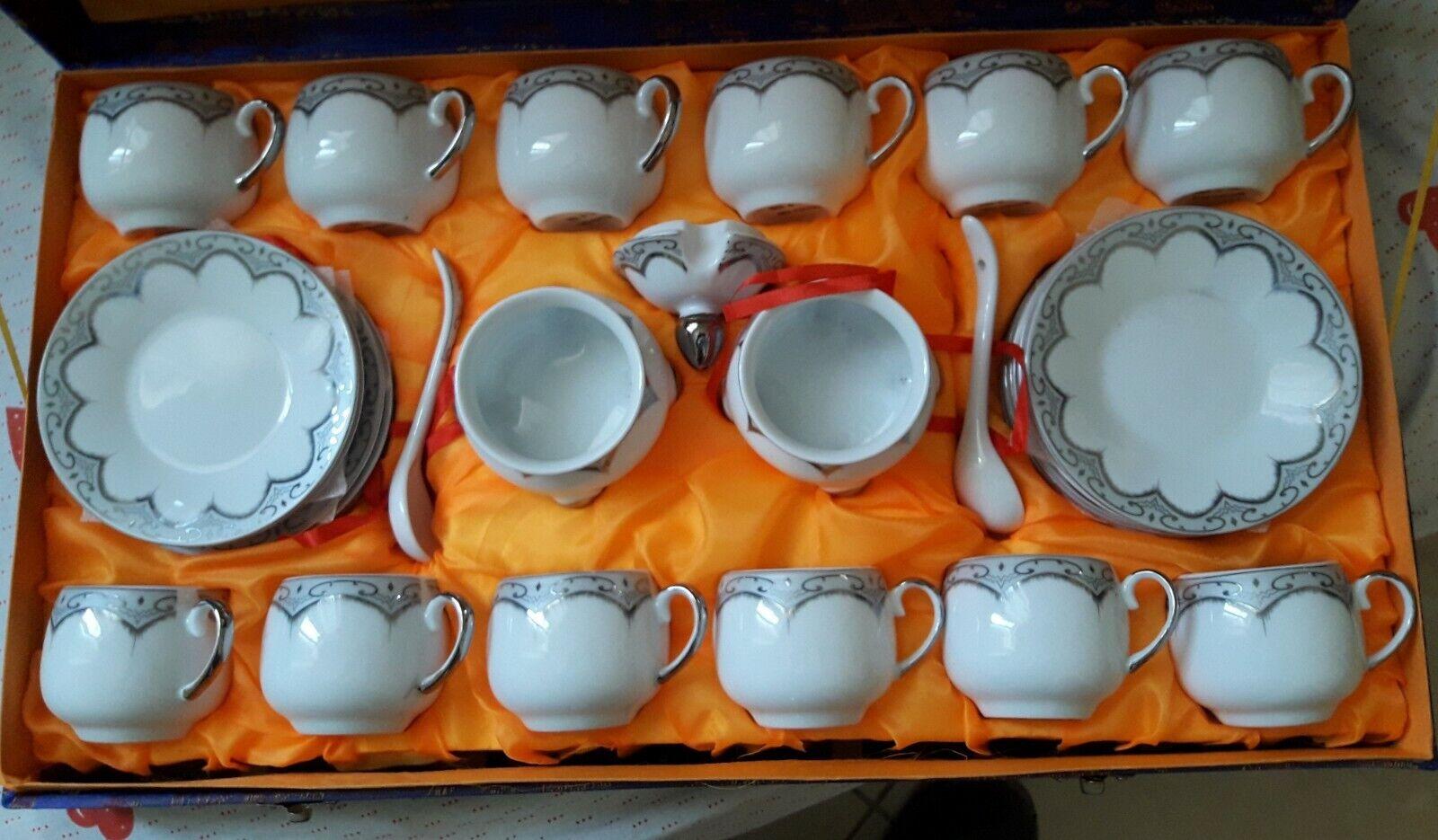 Arabe Café Turc Set expresso Serving tasses & soucoupes 12 tasses - 29 pièces
