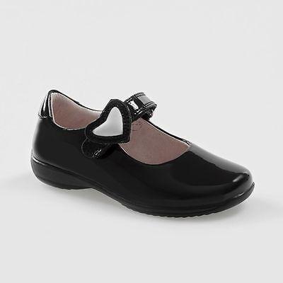 Black Patent Dolly School Shoe LK8500