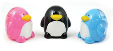 Penguin + Hedgehog Pencil Sharpener Set of 4 (2 each) Sharpeners NEW USA Seller