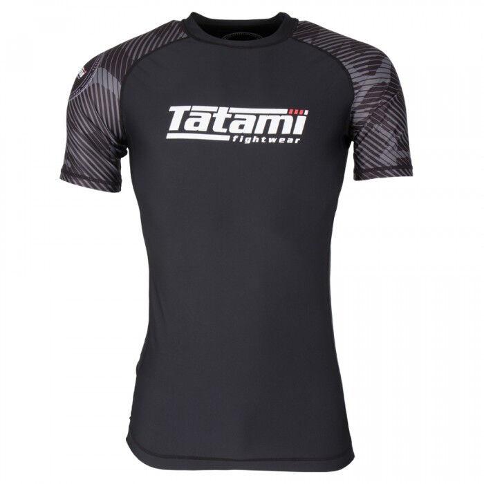 Tatami Renegade Grey BJJ Rash Guard Mens Short Sleeve Jiu Jitsu Compression Top