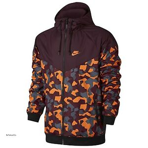 2a2e450393d8 Nike Badlands Camo Windrunner S XL 2XL Maroon Black Red Windbreaker ...