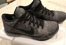 Nike Air Kobe X 10 Elite Flyknit ID NikeID Size 12 Grey Oreo