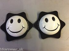 MOTRAX Motorcycle/Motorbike Knee Protection Slider Smiley face White  As Pair
