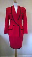 Vintage Christian Dior black Pure New Wool skirt/jacket suit US 6 Fits UK 12