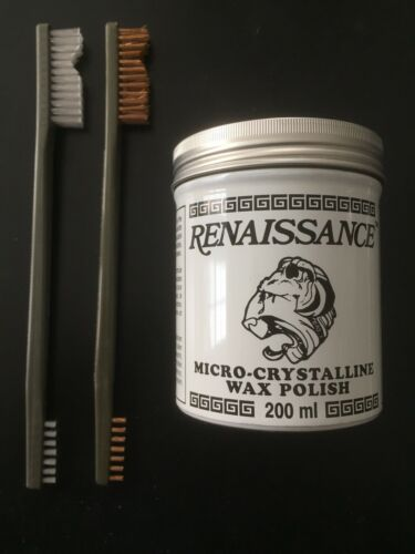 7 oz Renaissance Wax and TWO Brushes/> Must Have! Coins and Relics Cleaning Kit
