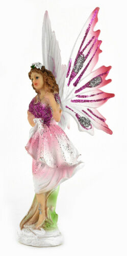 Figures Fairy Figurine fairy statue 15 cm angel carved wings color