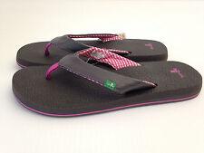 Sanuk Women's Yoga Mat Gray Filp Flop Sandals - Gunmetal Size 9 USA