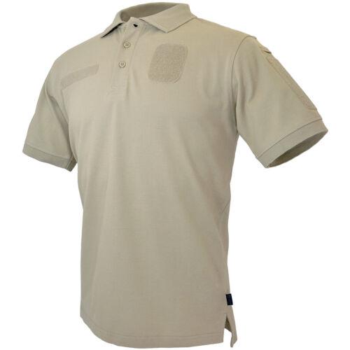 Hazard 4 Loaded Id Centric Kampf Polo Hemd Mens Casual Top Cotton Tan