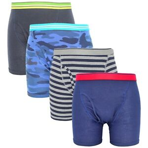 Lot of 4 | Men's Boxer Briefs Underwear Stretch Fashion Trunk | S M L XL 2X |