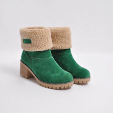 1e75ae0153c5 Fashion Women Winter Snow Boots Warm Short Plush Lady s Shoes Square High  Heels