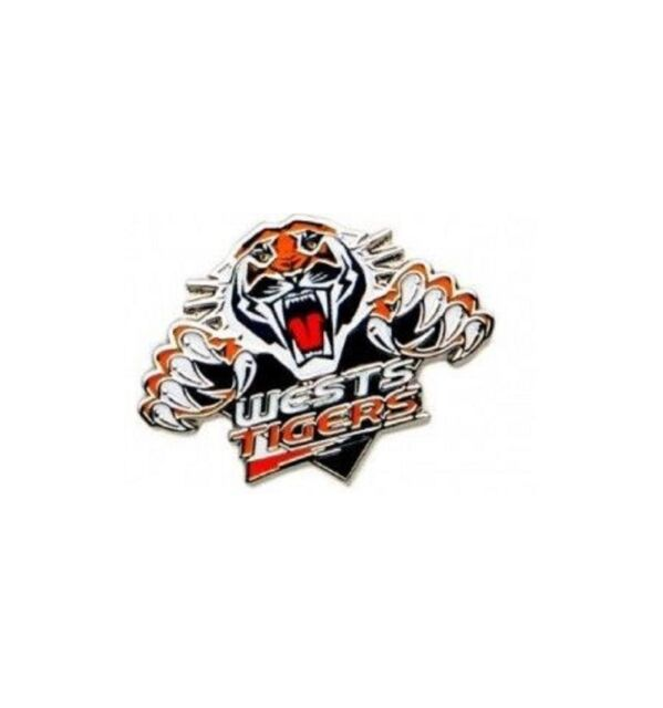 Wests Tigers Official NRL Logo Lapel Tie Pin