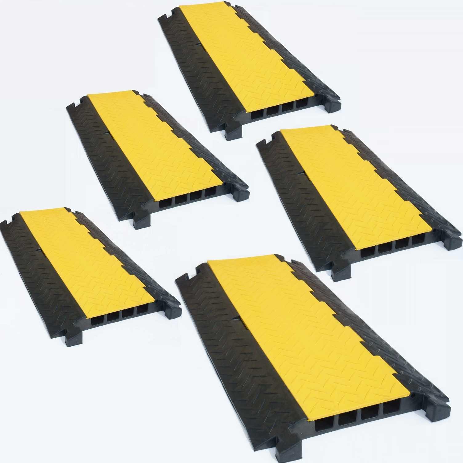 Baugewerbe Kabel, Leitungen & Stecker 10x 1 Kanal Kabelbrücke Kabelmatte Überfahrrampe Kabelkanal Überfahrschutz Gummi