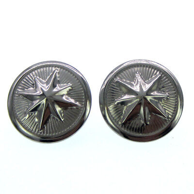 "20Pcs 7/8"" silver star metal buttons decorative fit sewing craft Scrapbook 22mm"